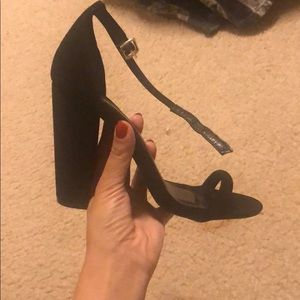 Black Lulus Sandals worn only once. Size 7.5